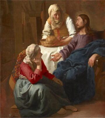 フェルメール展 マリアとマルタの家のキリスト