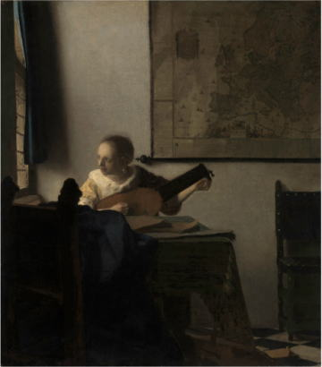 フェルメール展 リュートを調弦する女