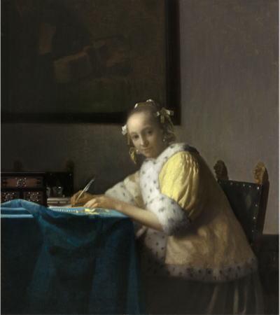 フェルメール展 手紙を書く女