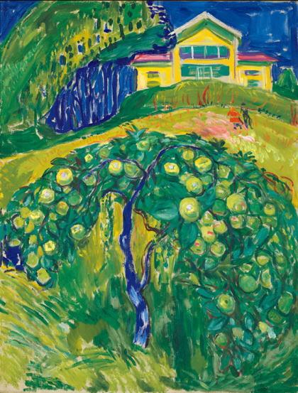 ムンク作品 森のリンゴの樹