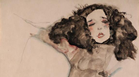 エゴン・シーレ 黒髪の少女