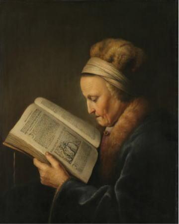 本を読む老女 ヘラルト・ダウ