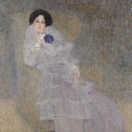 クリムト マリー・ヘンネベルクの肖像