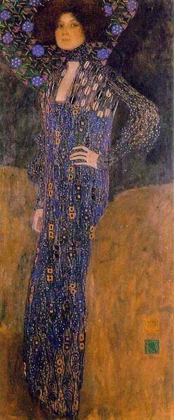 グスタフ・クリムト エミーリエ・フレーゲの肖像