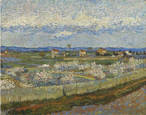 花咲く桃の木々 フィンセント・ファン・ゴッホ