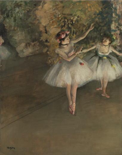 舞台の上の二人の踊り子 エドガー・ドガ
