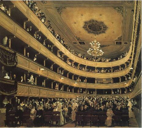 クリムト 旧ブルク劇場の観客席