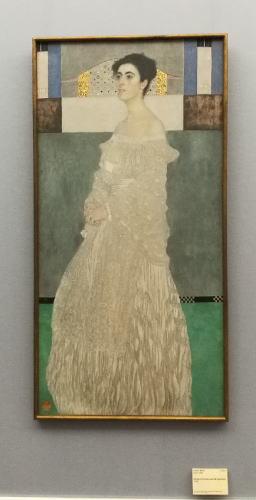 クリムト マルガレーテ・ストンボロ=ヴィトゲンシュタインの肖像 ノイエ・ピナコテーク