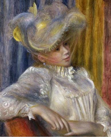 ピエール=オーギュスト・ルノワール 帽子の女