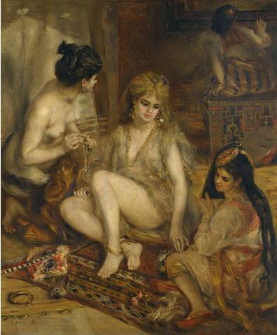 ピエール=オーギュスト・ルノワール アルジェリア風のパリの女たち