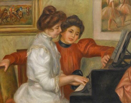 オーギュスト・ルノワール ピアノを弾くイヴォンヌとクリスティーヌ・ルロル
