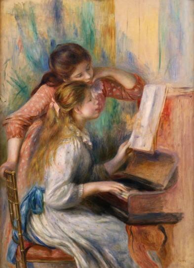 オーギュスト・ルノワール ピアノを弾く少女たち