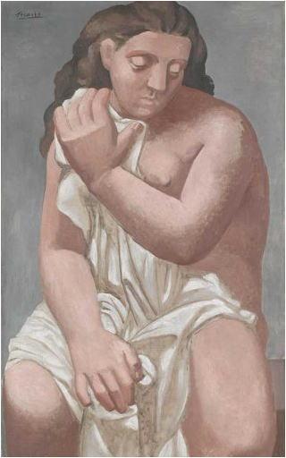 パブロ・ピカソ 布を纏う裸婦