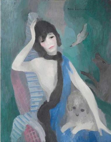 マリー・ローランサン マドモアゼル・シャネルの肖像