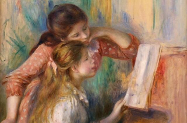 ルノワール ピアノを弾く少女たち