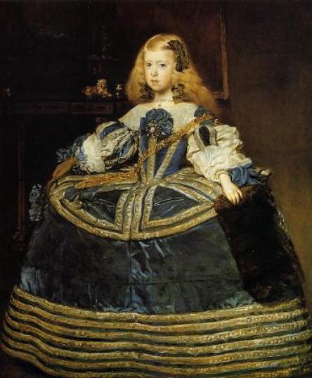 青いドレスの王女マルガリータ・テレサ