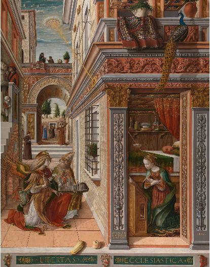 クリヴェッリ 聖エミディウスを伴う受胎告知