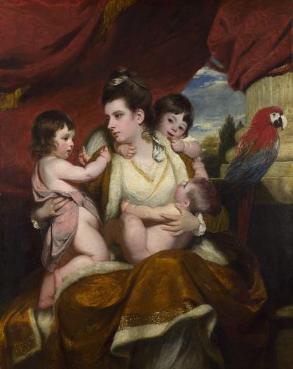 レノルズ コーバーン卿夫人と3人の息子