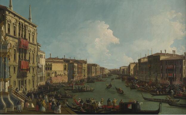 カナレット ヴェネツィア:大運河のレガッタ