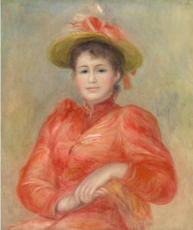 オーギュスト・ルノワール 赤い服の女