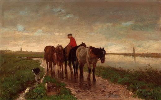 4頭の牽引馬 アントン・マウフェ