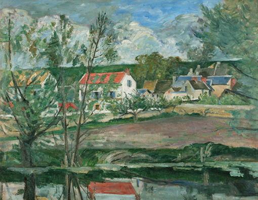 オワーズ河岸の風景 ポール・セザンヌ