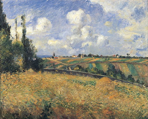 ライ麦畑、グラット=コックの丘、ポントワーズ カミーユ・ピサロ