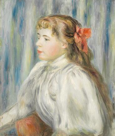 オーギュスト・ルノワール「少女の胸像」