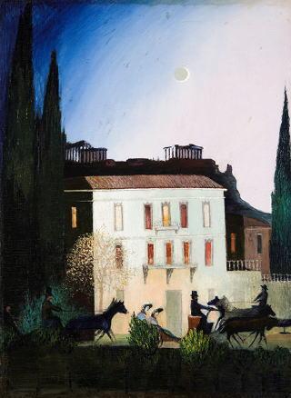 チョントヴァーリ・コストカ・ティヴァダル「アテネの新月の夜、馬車での散策」