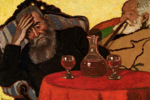 リップル=ローナイ・ヨージェフ「赤ワインを飲む私の父とピアチェク伯父さん」