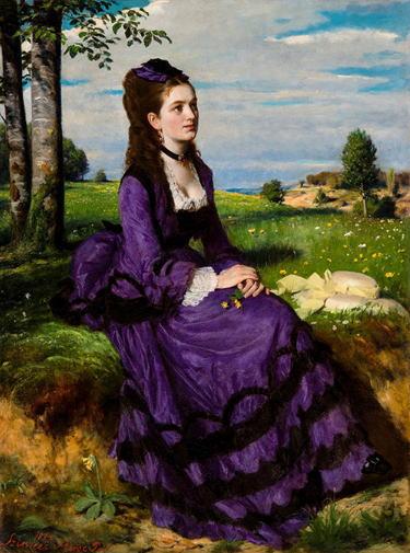 シニェイ・メルシェ・パール「紫のドレスの婦人」