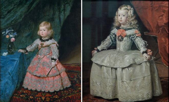 スペイン王女 マルガリータ・テレサ肖像画