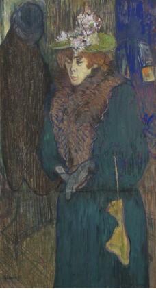 アンリ・ド・トゥールーズ=ロートレック「ジャヌ・アヴリル、ムーラン・ルージュの入口にて」