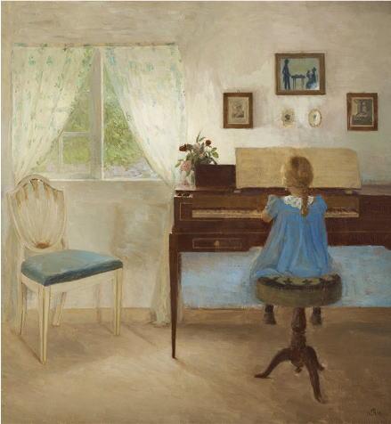ピーダ・イルステズ ピアノに向かう少女