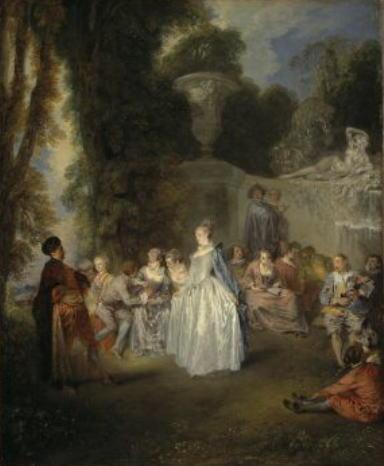 ジャン=アントワーヌ・ヴァトー「ヴィネチアの宴」