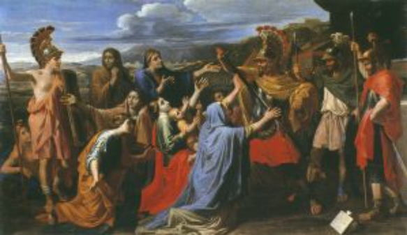 ニコラ・プッサン「コリオラヌスに哀訴する妻と母」