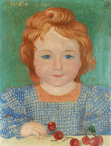 モーリス・ドニ「サクランボを持つノエルの肖像」
