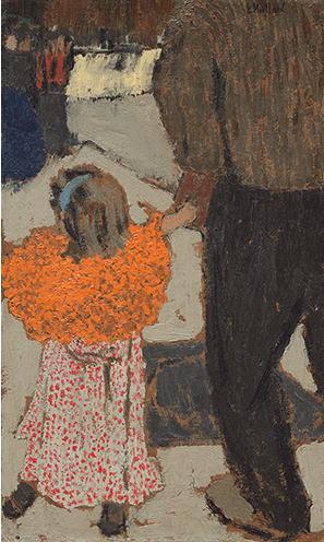 エドゥアール・ヴュイヤール「赤いスカーフの子ども」