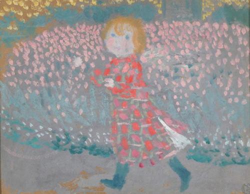 モーリス・ドニ「赤いエプロンドレスを着た子ども」