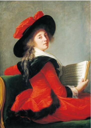 エリザベト=ルイーズ・ヴィジェ・ルブラン「クリュソル・フロランサック男爵夫人、アンヌ=マリ・ジョゼフィーヌ・ガブリエル・ベルナール・ド・ブーランヴィリエ」