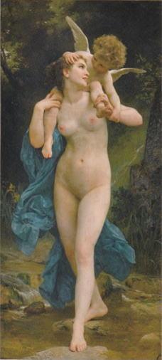 ウィリアム・ブグロー「青春とアモル」