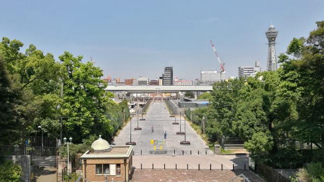 大阪市立美術館から見た新今宮方向