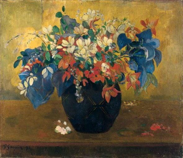 ポール・ゴーガン 花瓶の花