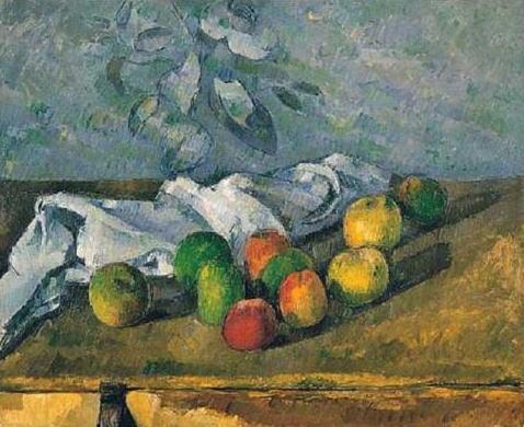 「りんごとナプキン」ポール・セザンヌ