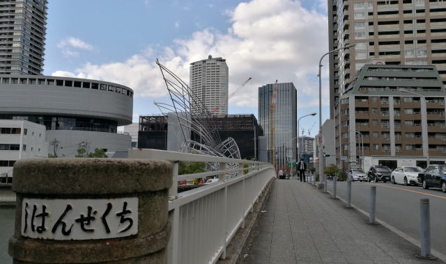 筑前橋を渡ります