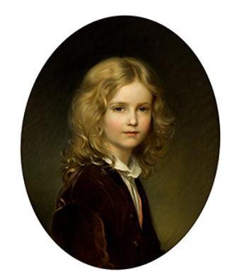 ヨーゼフ・ノイゲバウアー「リヒテンシュタイン侯フランツ1世 8歳の肖像」