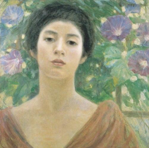 藤島武二「婦人と朝顔」