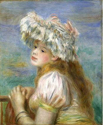 ピエール・オーギュスト・ルノワール「レースの帽子の少女」