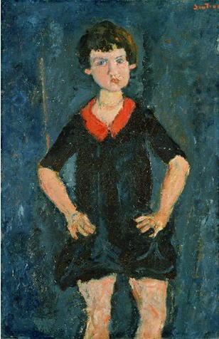 シャイム・スーティン「青い服を着た子供の肖像」