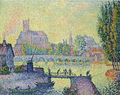 ポール・シニャック「オーセールの橋」